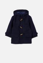 Cotton On - Lennon duffle coat - navy