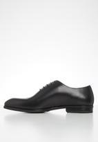 POLO - Austin leather plain vamp formal lace up - black