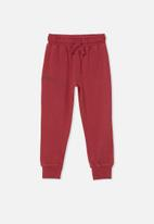 Cotton On - Marlo trackpant - fortune red/ epic