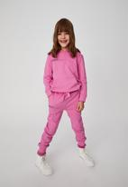 Cotton On - Marlo trackpant - pink gerbera/ creative