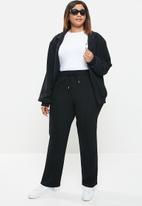 POLO - Plus amelia woven tracksuit pant - black
