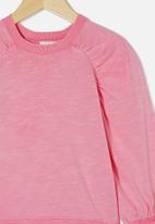 Cotton On - Priscilla puff sleeve top - pink gerbera