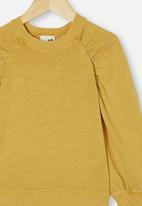 Cotton On - Priscilla puff sleeve top - honey gold