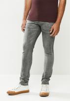 urban° - Mens urban denim jeans - dark grey