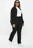 POLO - Plus amelia woven tracksuit jacket - black