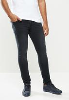 urban° - Mens urban denim jeans - black
