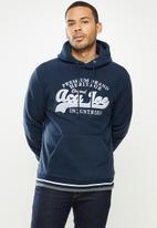 Aca Joe - Aca Joe polar fleece hoodie - navy