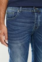 Aca Joe - Aca Joe styled skinny fit jeans - mid blue