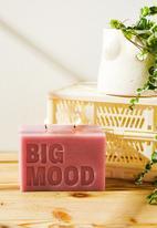 Typo - Large block candle-big mood lilac