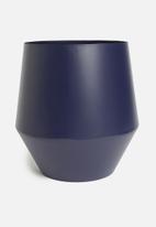 Sixth Floor - Cole planter - blue