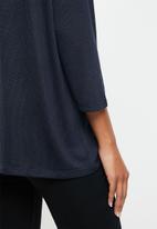 Vero Moda - Brianna 3/4 blouse - navy & black