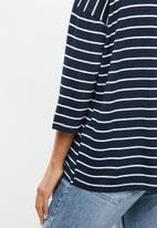 Vero Moda - Brianna 3/4 blouse - navy & white