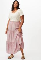Cotton On - Curve jasmine maxi skirt - ashlee ditsy lilac bloom