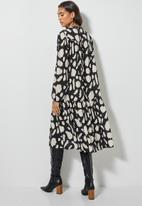 Superbalist - Midi gypsy dress - black & beige