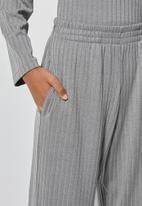 Superbalist - Knit rib wide leg - grey