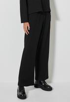 Superbalist - Knit rib wide leg - black