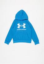 Under Armour - Ua boys rival fleece hoodie - blue & white