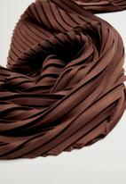 Violeta by Mango - Plain neck scarf - brown