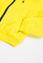 POLO - Boys jayden ls hooded puffer jacket - yellow