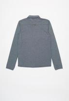 POLO - Boys adrian long sleeve shirt- navy