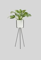 Sixth Floor - Lana planter with stand - white