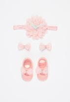 POP CANDY - Girls booties & headband set - pink