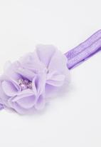 POP CANDY - Girls booties & headband set - lilac