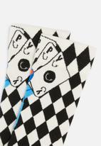 Happy Socks - Lucky winner socks - black & white