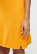 Aca Joe - Contrast collar sj dress - mustard
