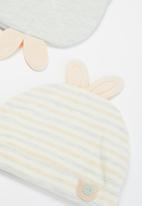 POP CANDY - Girls 2 pack bunny beanies - multi