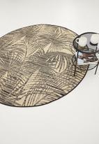 Hertex Fabrics - Cocos round rug - black