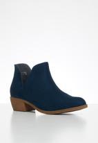 Jada - Western side cut ankle boot - navy