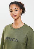 RVCA - Big rvca pullover crew fleece - olive