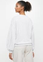 RVCA - Slouchy pullover crew - light heather