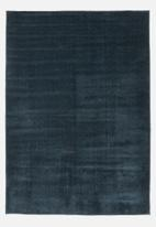 Sixth Floor - Silky micro polyester rug - blue