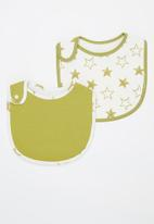 POP CANDY - Baby 2 pack bibs - green & white