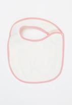 POP CANDY - Baby girls 2 pack bibs - pink & white
