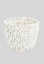 Sixth Floor - Large braided cotton rope basket - cream