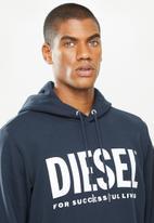Diesel  - S-gir-hood-division-logo sweat-shirt- navy