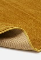 Sixth Floor - Silky micro polyester rug - mustard