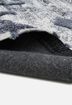 Sixth Floor - Thalia tufted printed rug - teal blue