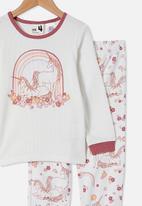 Cotton On - Edith long sleeve pyjama set - vanilla