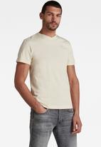 G-Star RAW - Base-S v-neck short sleeve - ecru