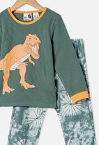 Cotton On - Noah long sleeve pyjama set - green