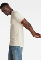 G-Star RAW - Sport collar slim short sleeve polo - ecru