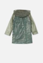 Cotton On - Cloudburst raincoat - swag green zebra