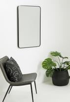 Sixth Floor - Rectangular mirror - black