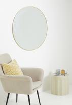 Sixth Floor - Cleo round mirror - gold 90cm