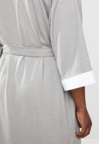 STYLE REPUBLIC - Waffle robe - grey