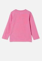 Cotton On - Penelope long sleeve tee - pink